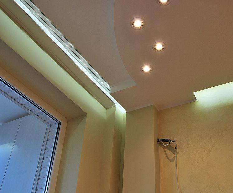 Подвесной потолок, вечерняя подсветка
